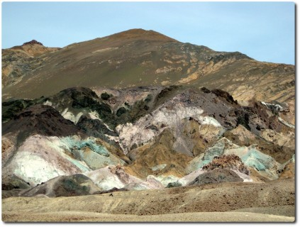 Farbige Felsformationen auf dem Artists Drive