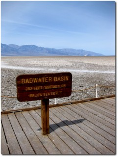 Badwater - 86m unterhalb der Meeresoberfläche - Tiefster Punkt Nordamerikas