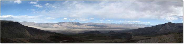 Panorma Südwesteinfahrt Dead Valley NP