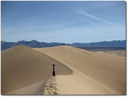 Sanddünen in den Mesquite Flats