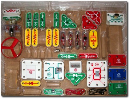 Elektrobaukasten Snap Circuits Inhalt