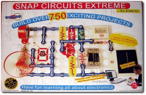 Elektrobaukasten Snap Circuits Kiste