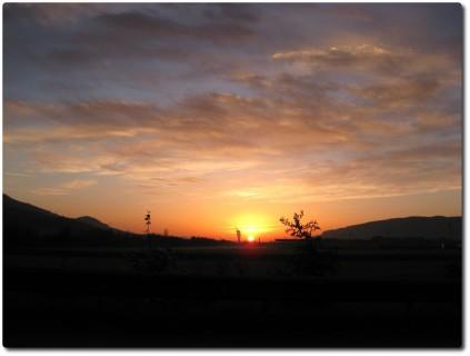 Sonnenaufgang bei Egerkingen