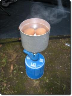 Eierkochen auf Gas
