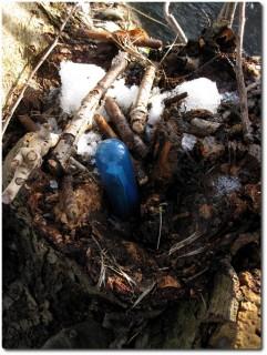 Geocache gefunden aber loggen unmöglich - festgefroren