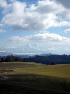 Auch heute gibts Eiger, Mönch und Jungfrau