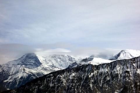 Eiger Mönch und Jungfrau vom Beatenberg