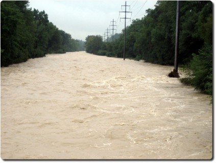 Emme Hochwasser 2007 Aufwärts