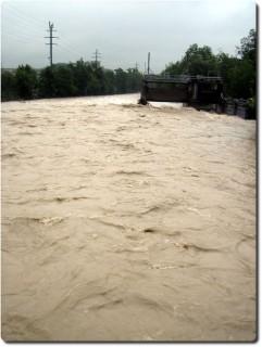 Emme Hochwasser 2007 Abwärts