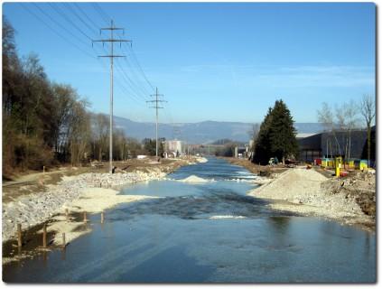 Hochwasserschutz entlang der Emme