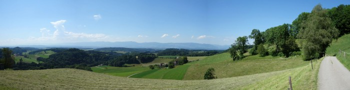 Panorama in Richtung Jura