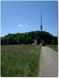 Aufstieg zur Antenne des Engelbergs
