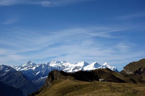 Herzlicher Blick zur Erzegg und den Berner Alpen