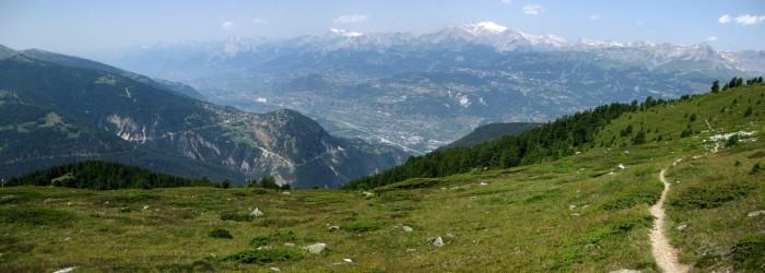 Panorama - Trail in Richtung Illgraben
