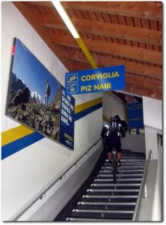 Fahrtechniktraining auf der Treppe der Chantarella Station