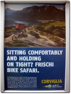 Werbung für die Frischi Bike Safari