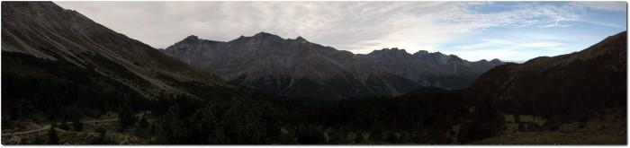 Panorama vom Fuorcla del Gal in Richtung Val del Gallo