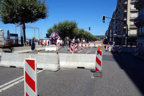 Fêtes de Genève - Strassensperren
