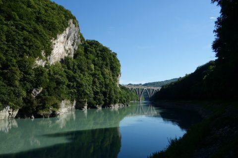 Rhône in der Klus
