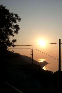Morgensonne auf dem Balkon