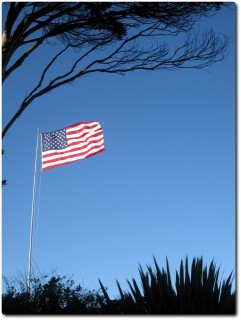 Extremer Wind - Stramme US Flagge