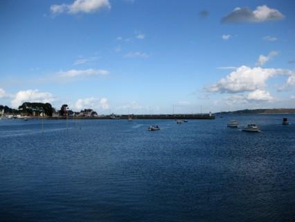 Hafen Perros-Guirec - Flut