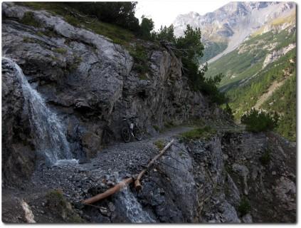 In Richtung Passo di Fraéle - zweite Schlüsselstelle