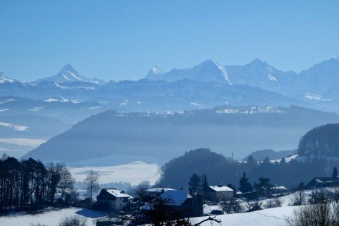 Gurtenblick zu den Alpen