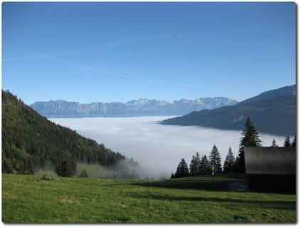 ...und letzter Blick auf das Nebelmeer vor der Abfahrt