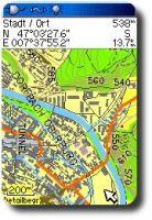 Ansicht Garmin TOPO Schweiz 1.1