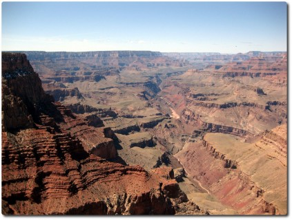 Grand Canyon - Blick hinunter auf den Colorado River