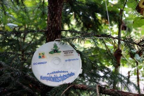 Geocache als Wildschutz-CD