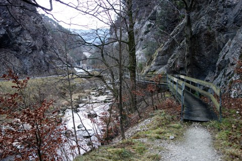 Trail durch die Gorges de Court