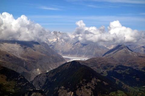 Gibidum - Blick zum Aletschgletscher