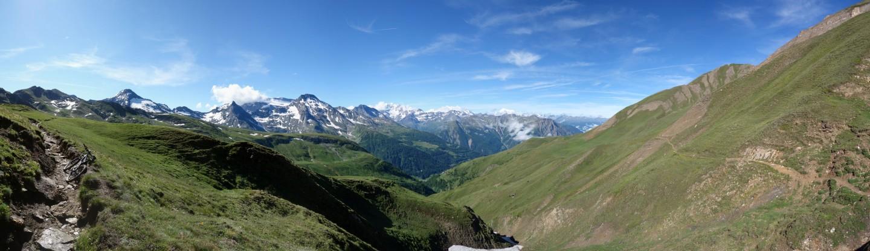 Panorama Giltgrabe unterhalb des Saflischpasses