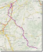 Google Map Emme - Mountainbike - Tour 1. Tag