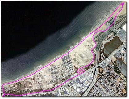 Google Maps Übersicht - Strandlauf Monterey Bay