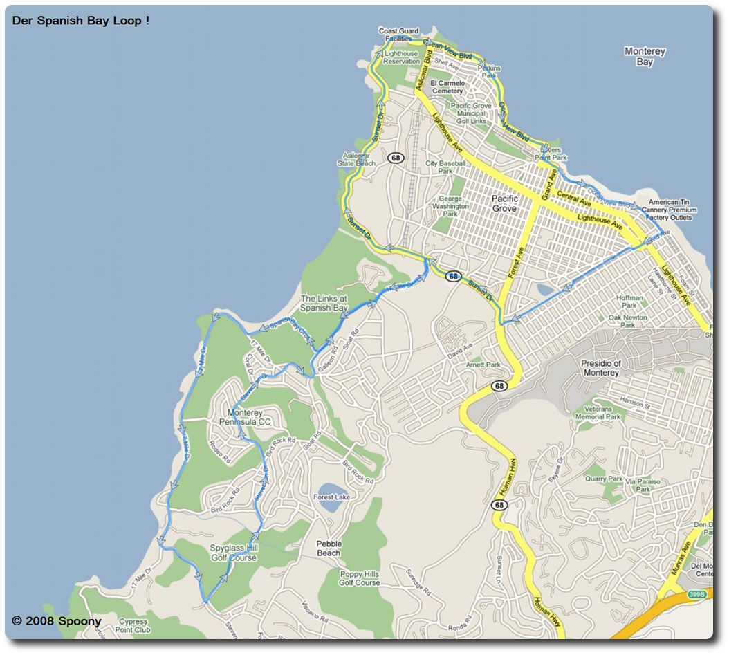 Google Maps - Spanish Bay Loop !