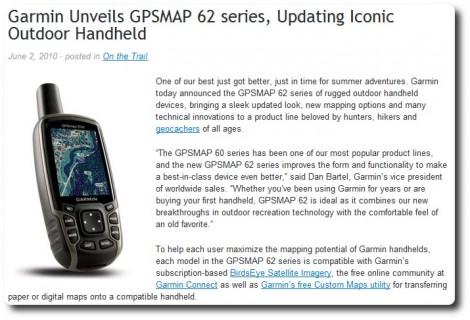 Garmin Blog - GPSmap 62