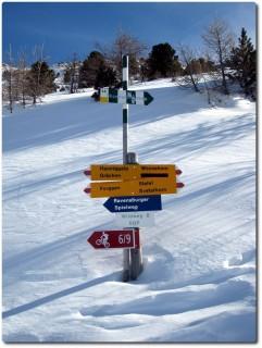 Biken in Grächen - leider noch etwas viel Schnee...