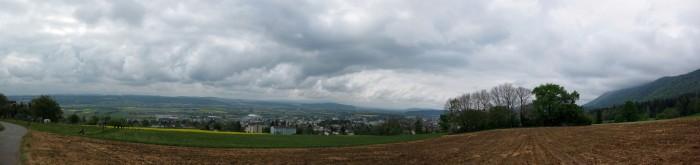 Panorama runter nach Grenchen