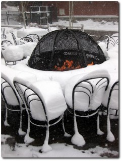 Terrasse des Fire and Ice Grills