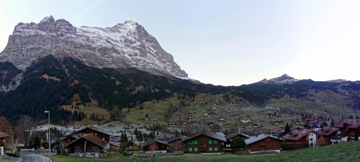 Grindelwald Panorama am frühen Morgen