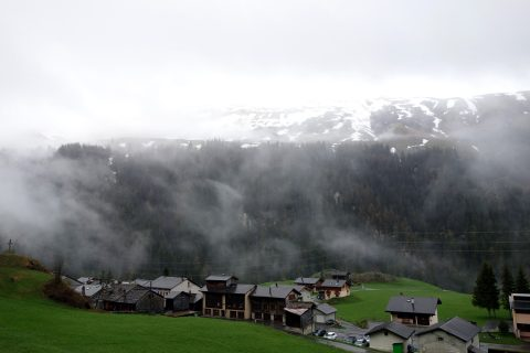 Nebel auf dem Grossen Sankt-Bernhard