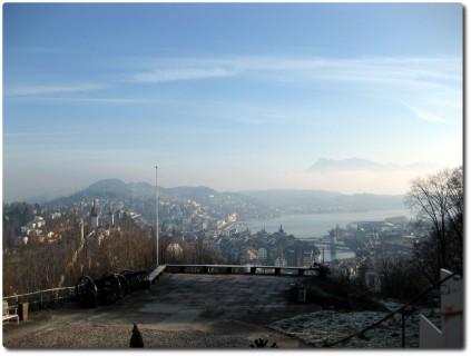 Blick vom Chateau Gütsch nach Luzern