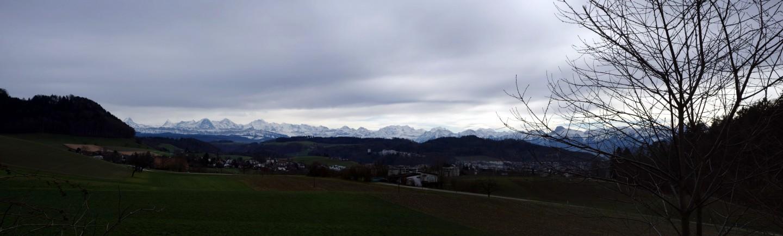 Panorama Alpen bei Habstetten