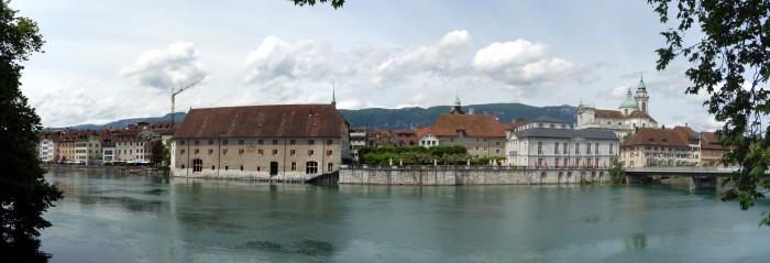 Panorama Solothurn ab Hafenbar