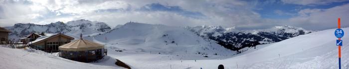 Adelboden Skitag - Panorama Hannigalp