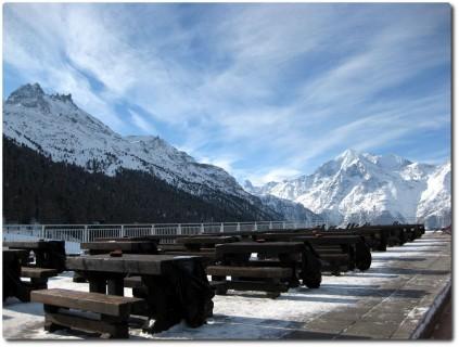 Neue Terrasse auf der Hannigalp mit Matterhornblick