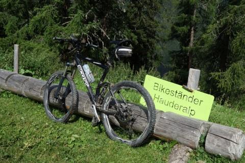 Hauderalp Bikeständer